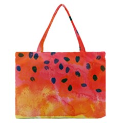 Abstract Watermelon Medium Zipper Tote Bag
