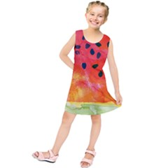 Abstract Watermelon Kids  Tunic Dress