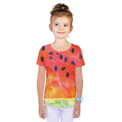 Abstract Watermelon Kids  One Piece Tee