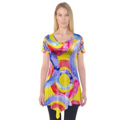 Blue And Pink Dream Short Sleeve Tunic