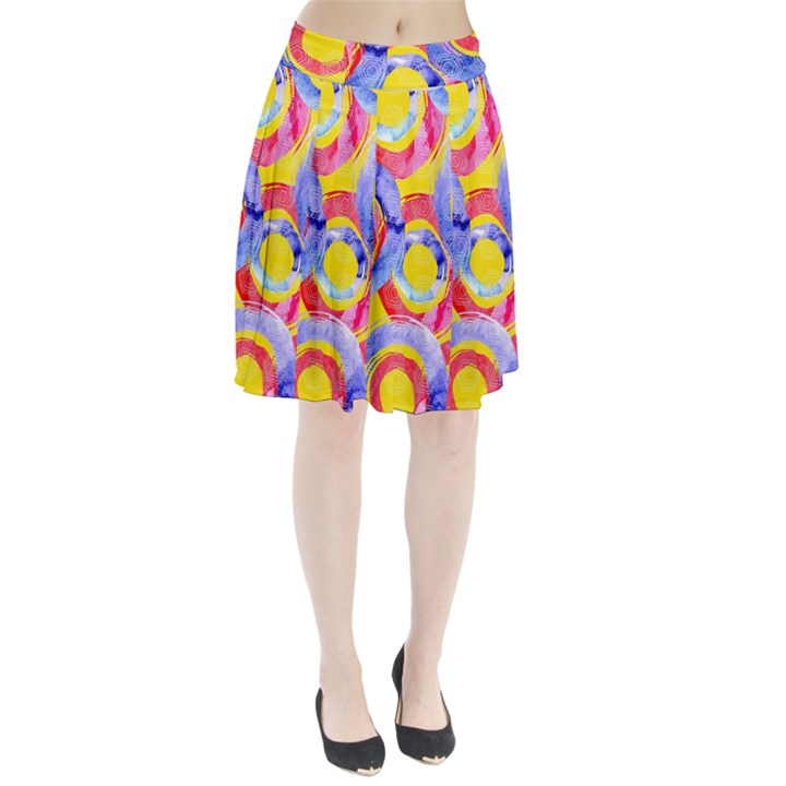 Blue And Pink Dream Pleated Skirt