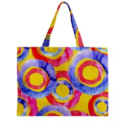 Blue And Pink Dream Medium Zipper Tote Bag