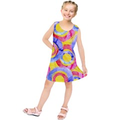 Blue And Pink Dream Kids  Tunic Dress