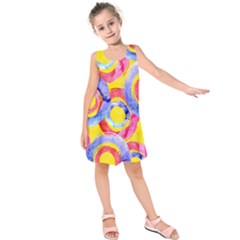 Blue And Pink Dream Kids  Sleeveless Dress