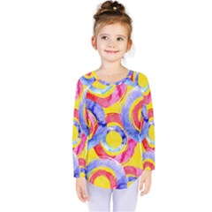 Blue And Pink Dream Kids  Long Sleeve Tee