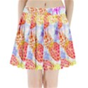 Colorful Pineapples Over A Blue Background Pleated Mini Skirt View1