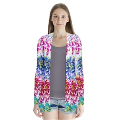 Colorful Dahlias Cardigans