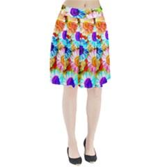 Colorful Daisy Garden Pleated Skirt
