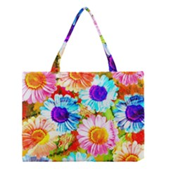 Colorful Daisy Garden Medium Tote Bag