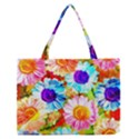 Colorful Daisy Garden Medium Zipper Tote Bag View1