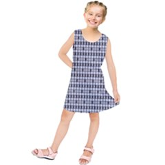 Pattern Grid Squares Texture  Kids  Tunic Dress