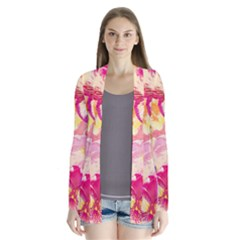 Colorful Pansies Field Cardigans