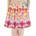 Colorful Pansies Field Pleated Mini Skirt View1