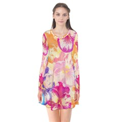 Colorful Pansies Field Flare Dress