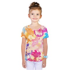 Colorful Pansies Field Kids  One Piece Tee