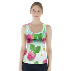 Cute Strawberries Pattern Racer Back Sports Top
