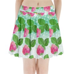 Cute Strawberries Pattern Pleated Mini Skirt
