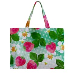 Cute Strawberries Pattern Medium Tote Bag