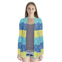 Hexagon And Stripes Pattern Cardigans