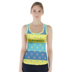 Hexagon And Stripes Pattern Racer Back Sports Top