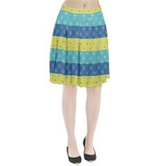 Hexagon And Stripes Pattern Pleated Skirt