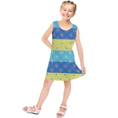 Hexagon And Stripes Pattern Kids  Tunic Dress