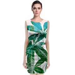 Pachira Leaves  Classic Sleeveless Midi Dress