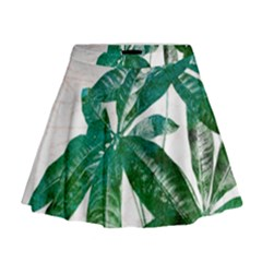 Pachira Leaves  Mini Flare Skirt