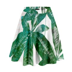 Pachira Leaves  High Waist Skirt