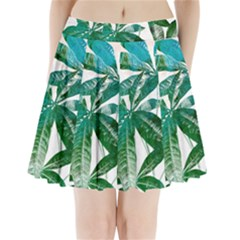 Pachira Leaves  Pleated Mini Skirt