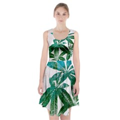 Pachira Leaves  Racerback Midi Dress
