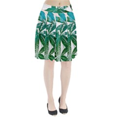 Pachira Leaves  Pleated Skirt