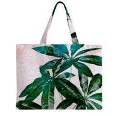 Pachira Leaves  Medium Tote Bag