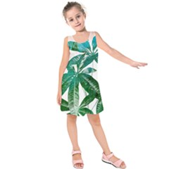 Pachira Leaves  Kids  Sleeveless Dress