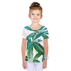 Pachira Leaves  Kids  One Piece Tee