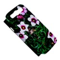 Pink Flowers Over A Green Grass Samsung Galaxy S III Hardshell Case (PC+Silicone) View5