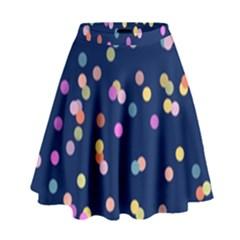 Playful Confetti High Waist Skirt