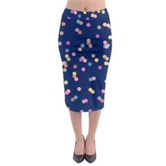 Playful Confetti Midi Pencil Skirt