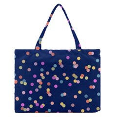 Playful Confetti Medium Zipper Tote Bag