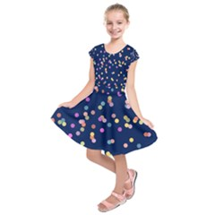 Playful Confetti Kids  Short Sleeve Dress