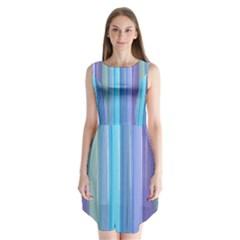 Provence Fields Lavender Pattern Sleeveless Chiffon Dress
