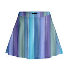 Provence Fields Lavender Pattern Mini Flare Skirt