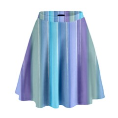 Provence Fields Lavender Pattern High Waist Skirt