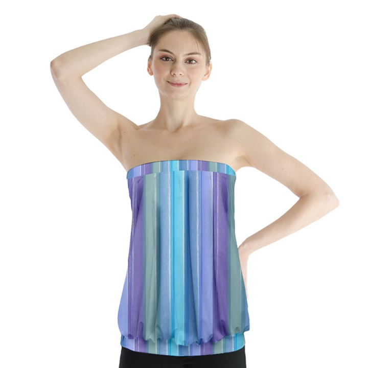 Provence Fields Lavender Pattern Strapless Top