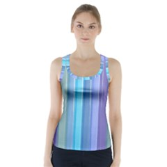 Provence Fields Lavender Pattern Racer Back Sports Top