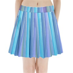 Provence Fields Lavender Pattern Pleated Mini Skirt