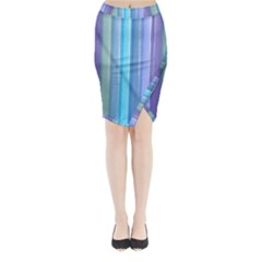 Provence Fields Lavender Pattern Midi Wrap Pencil Skirt