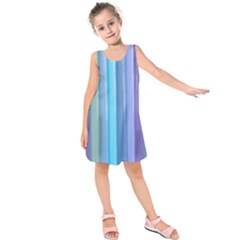 Provence Fields Lavender Pattern Kids  Sleeveless Dress