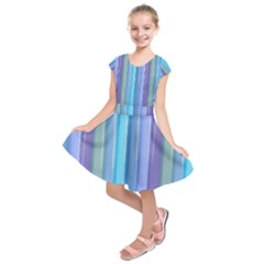 Provence Fields Lavender Pattern Kids  Short Sleeve Dress