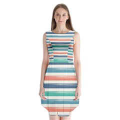 Summer Mood Striped Pattern Sleeveless Chiffon Dress